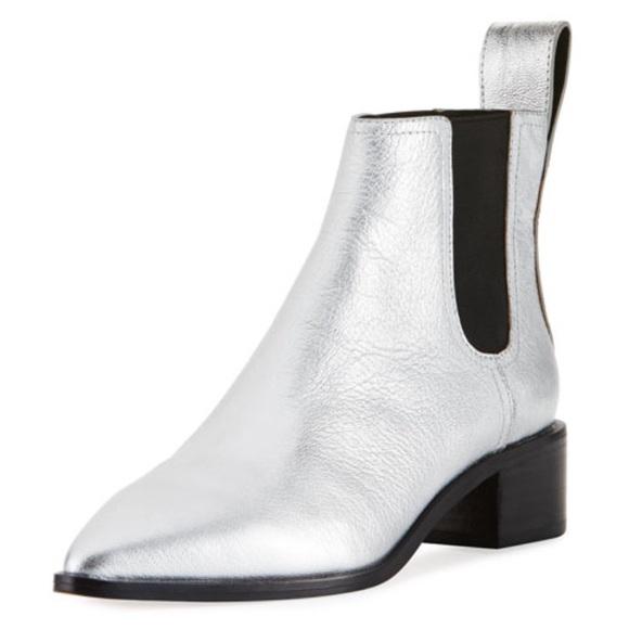 0c54326122e19 Loeffler Randall Shoes | Silver Nellie Chelsea Boots | Poshmark